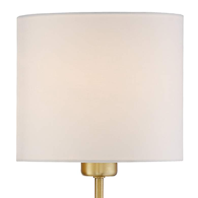 Amidon Warm Brass Drop Ring Plug-In Wall Lamp more views