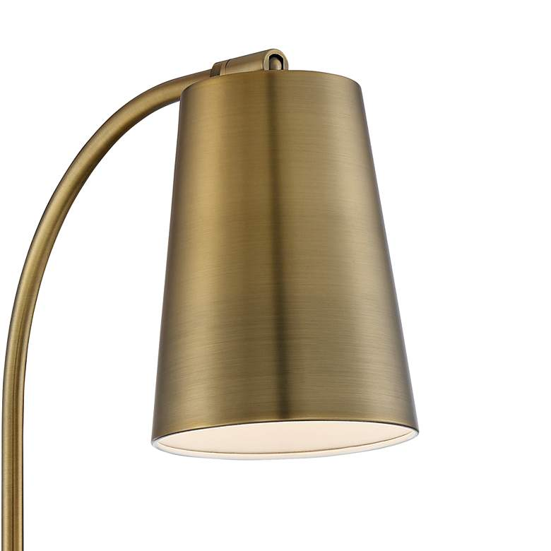 Sully Warm Brass Plug-In Wall Lamp more views