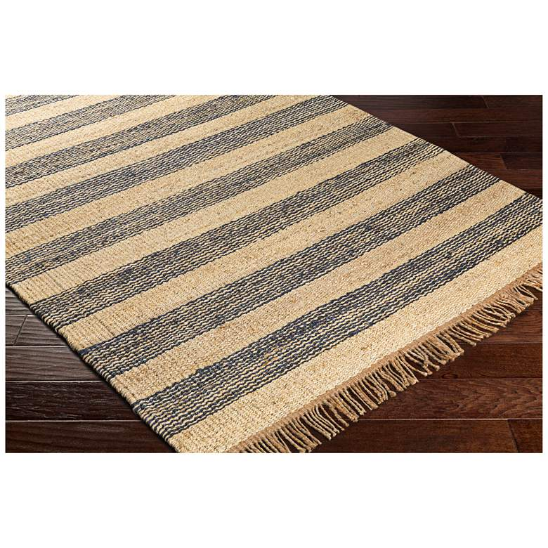 "Surya Davidson Navy and Cream 5'x7'6"" Jute Area Rug more views"