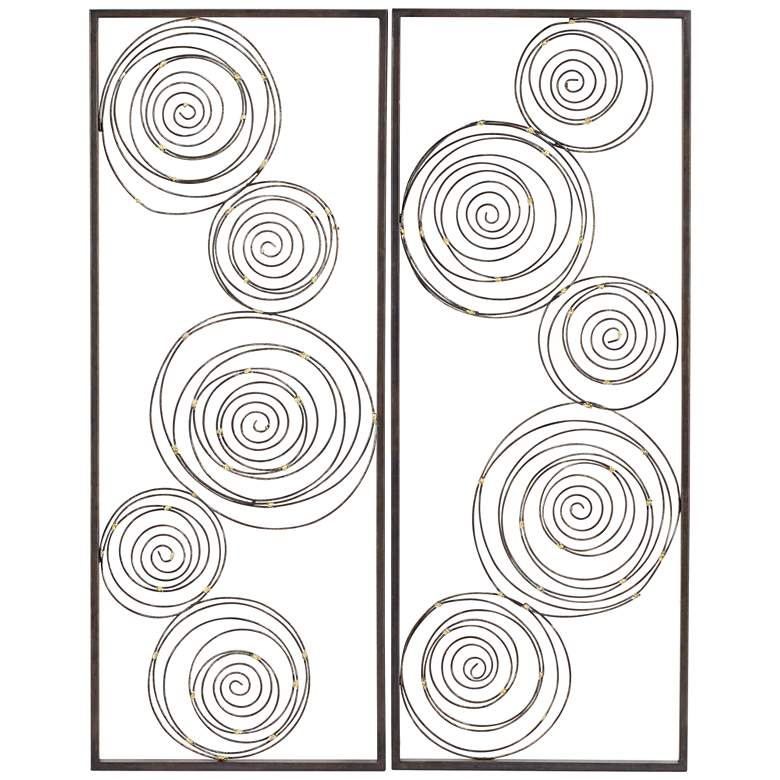 "Metallic Swirl 13 3/4"" x 35 1/2"" Wall Art Set of 2 more views"