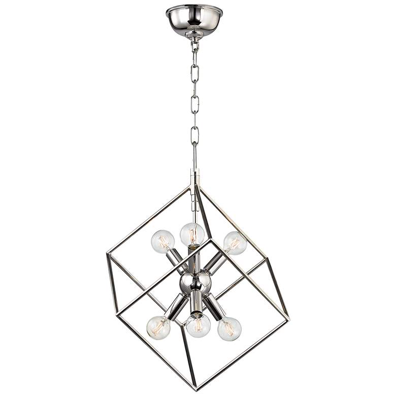"Roundout 16 3/4"" Wide Polished Nickel Pendant Light more views"