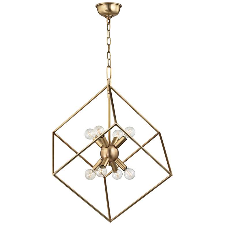 "Hudson Valley Roundout 23"" Wide Aged Brass Pendant Light more views"