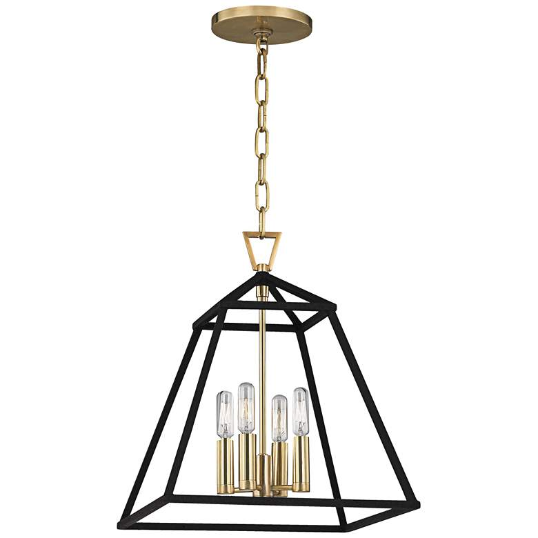 "Hudson Valley Webster 14"" Wide Aged Brass Pendant Light more views"