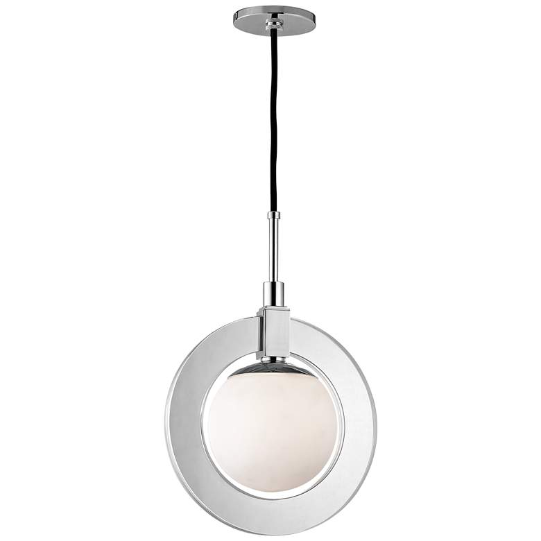 "Caswell 12"" Wide Polished Nickel LED Mini Pendant more views"
