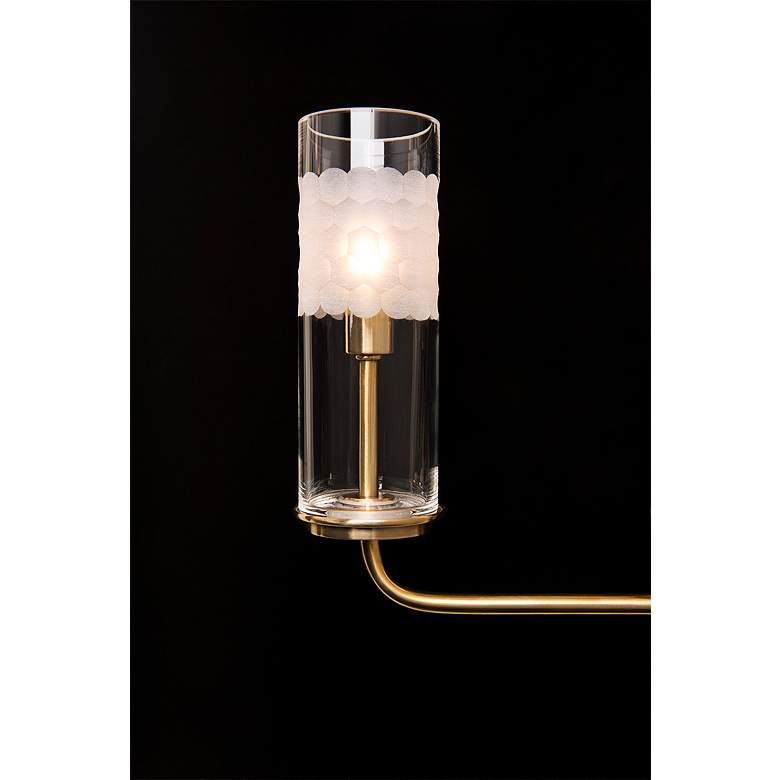 "Wentworth 10 1/4"" High Aged Brass 4-Light Wall Sconce more views"