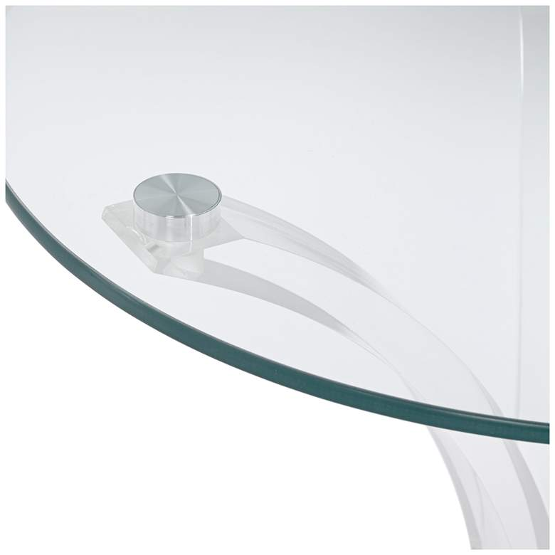 "Felicity 18"" Wide Glass and Clear Acrylic Round Accent Table more views"