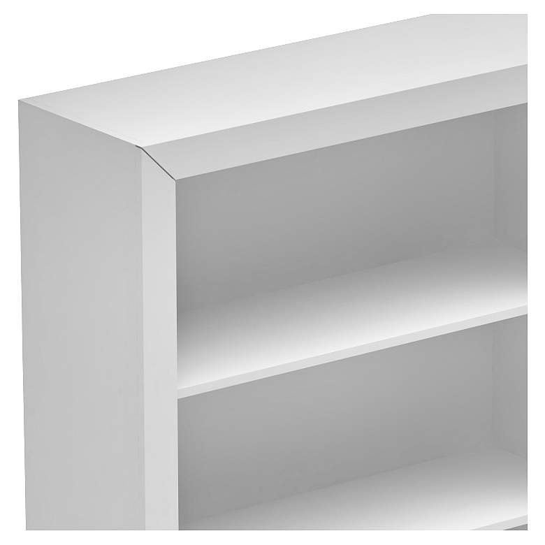 Accentuations Olinda 1.0 White 5-Shelf Bookcase more views