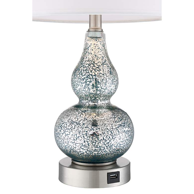 Castine Turquoise Mercury Glass USB Table Lamps Set of 2 more views