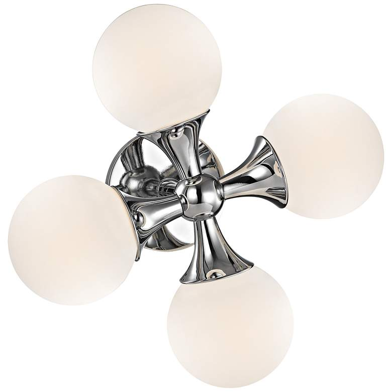 "Hudson Valley Astoria 14""H Polished Chrome LED Wall Sconce more views"