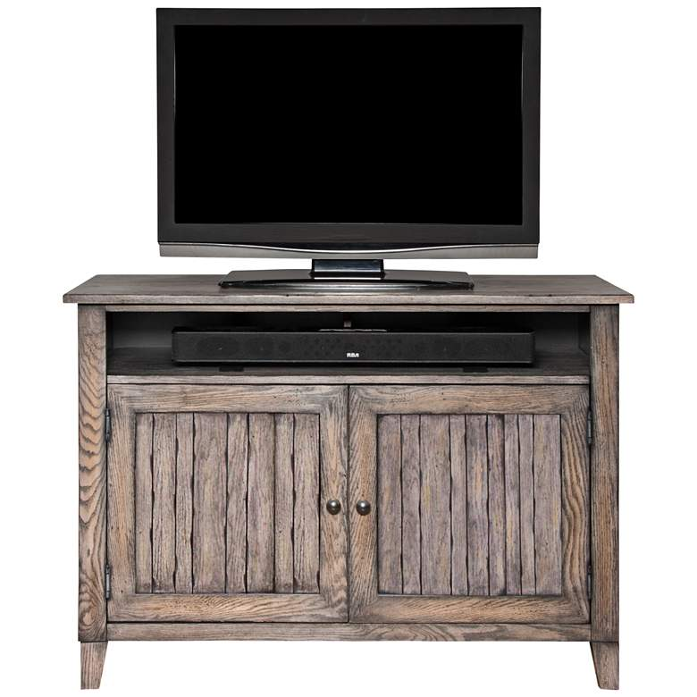 "Harmon 46"" Wide Weathered Gray 2-Door Farmhouse TV Console more views"