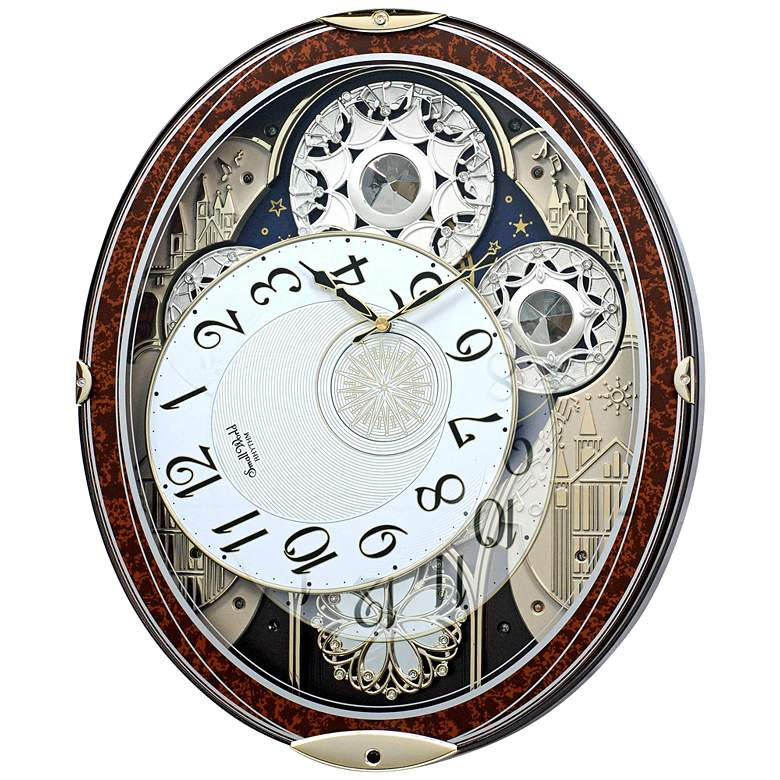 "Gala Wood 18 1/4"" High Motion Wall Clock with Chimes more views"
