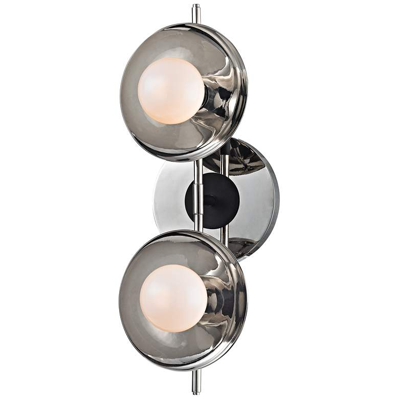 "Julien 4 3/4""H 2-Light Polished Nickel LED Bath Light more views"