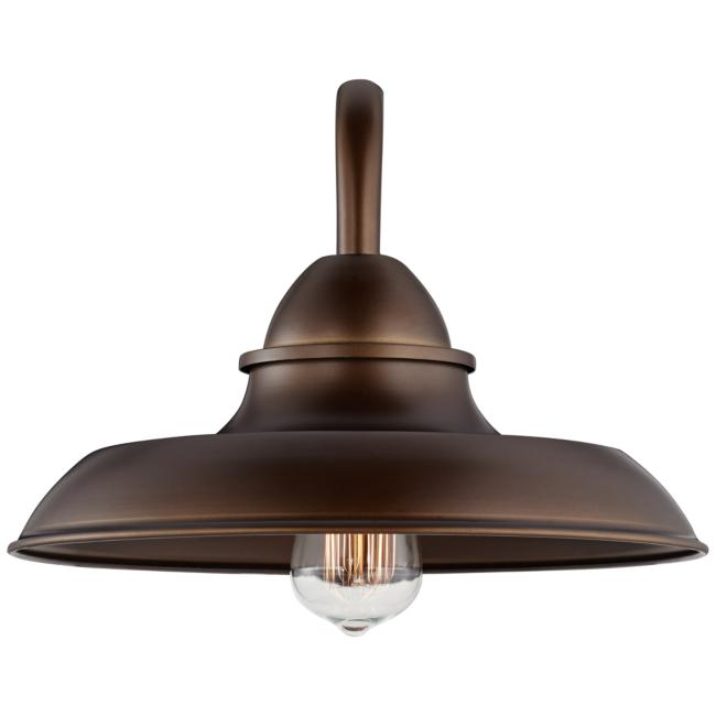 "Bowdon Bronze 10""H Indoor Plug-In Sconce with Edison Bulb"