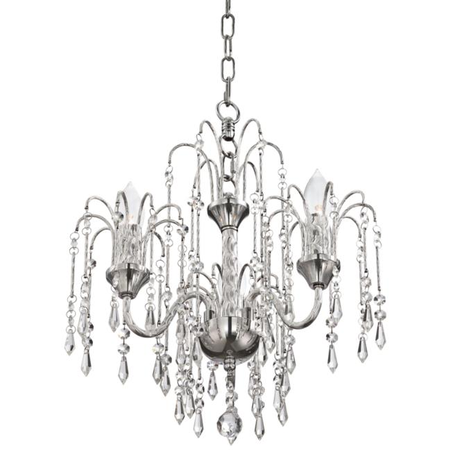 "Crystal Rain 15"" Wide Chrome 3-Light Chandelier"
