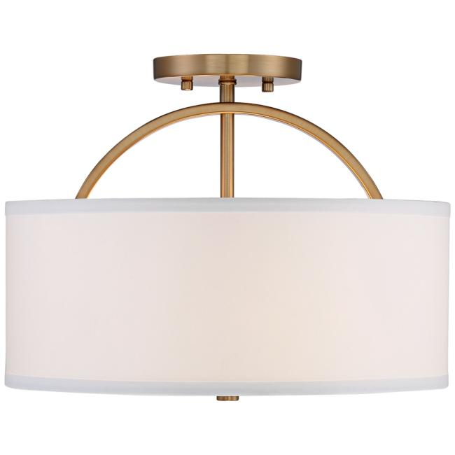 "Possini Euro Halsted 15"" Wide Warm Brass Ceiling Light"