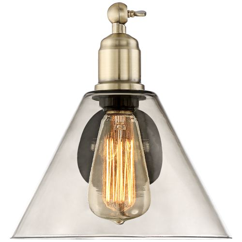 Waller Black and Brass Plug-In Wall Lamp Set of 2
