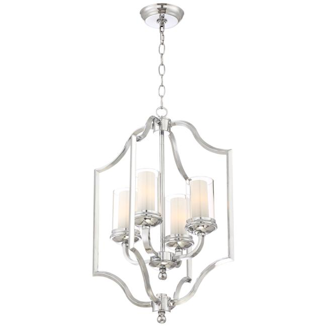 "Possini Euro Elliot Lake 16 3/4"" Wide Chrome Foyer Pendant"