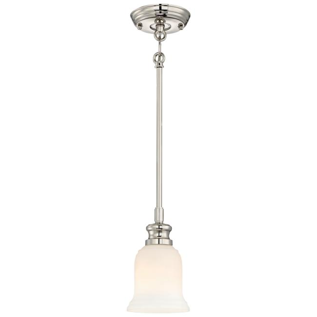 "Audrey's Point 5 1/4""W Polished Nickel Mini Pendant Light"