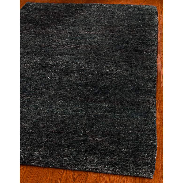 Bohemian Collection Eco and Friendly Jute 5'x8' Black Area Rug more views