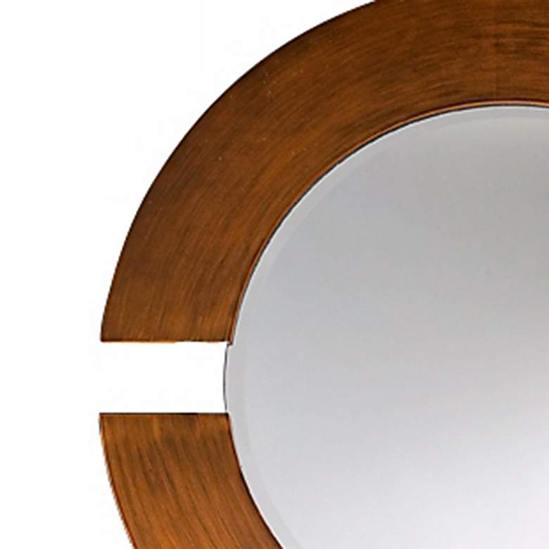 "Hemispheres Brushed Copper 38"" Round Wall Mirror more views"