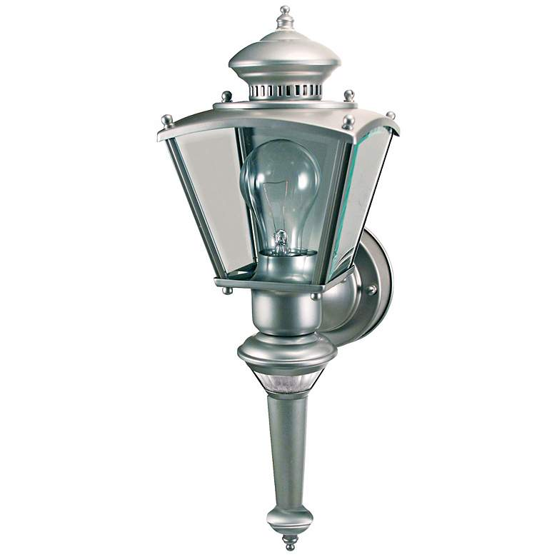 Charleston Coach Silver Motion Sensor Outdoor Light more views