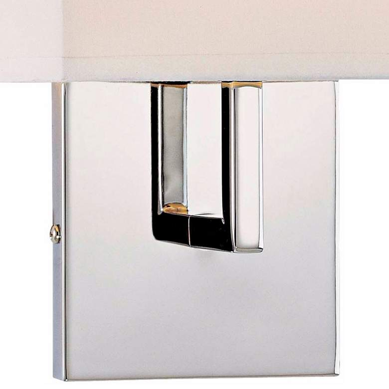 "George Kovacs Chrome 11 1/4"" High Half-Shade Wall Sconce more views"