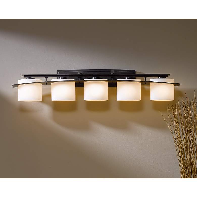 "Hubbardton Forge Opal Glass 42"" Wide Bath Light more views"