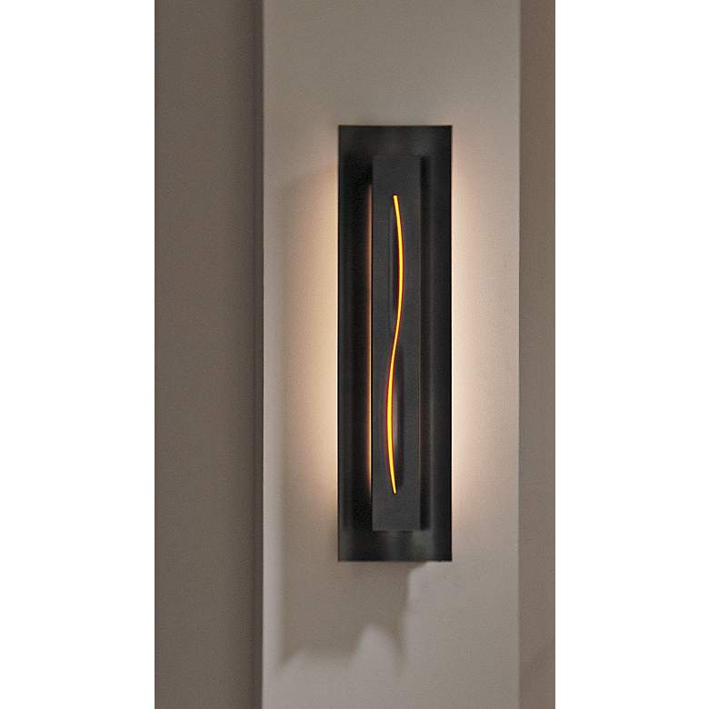 Gallery Amber Glass Curved Energy Efficient Wall Sconce more views
