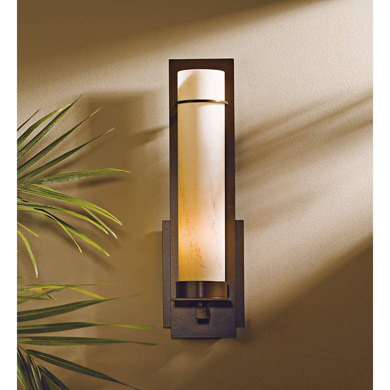 New Town Collection Stone Glass Energy Efficient Wall Sconce more views