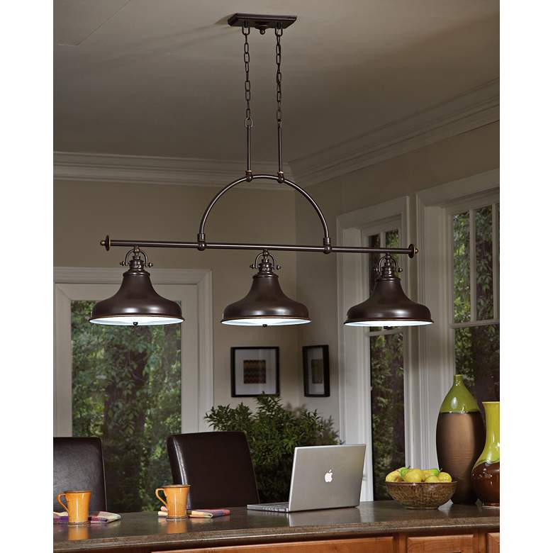 "Emery 53 1/2"" Wide Bronze Kitchen Island Light Chandelier more views"