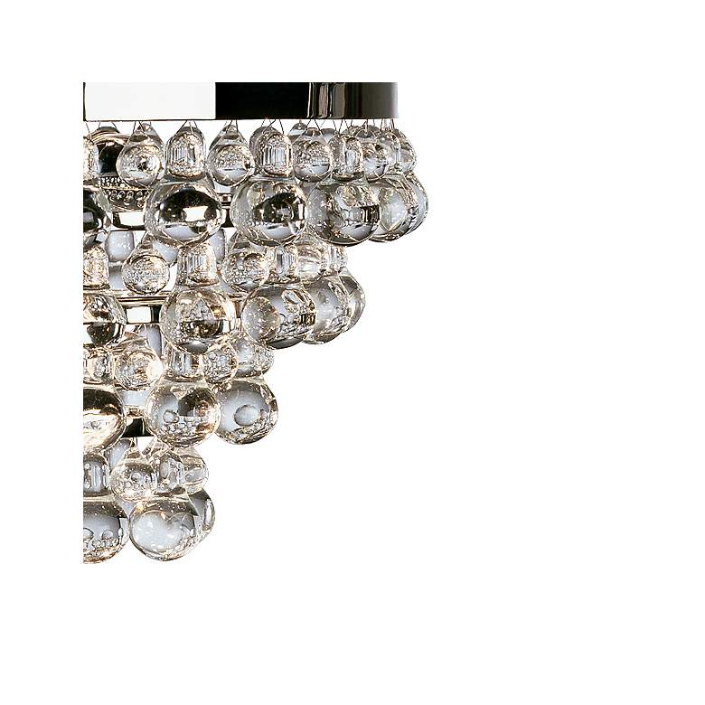 "Bling 20 1/2"" Wide Antique Polished Nickel Chandelier more views"