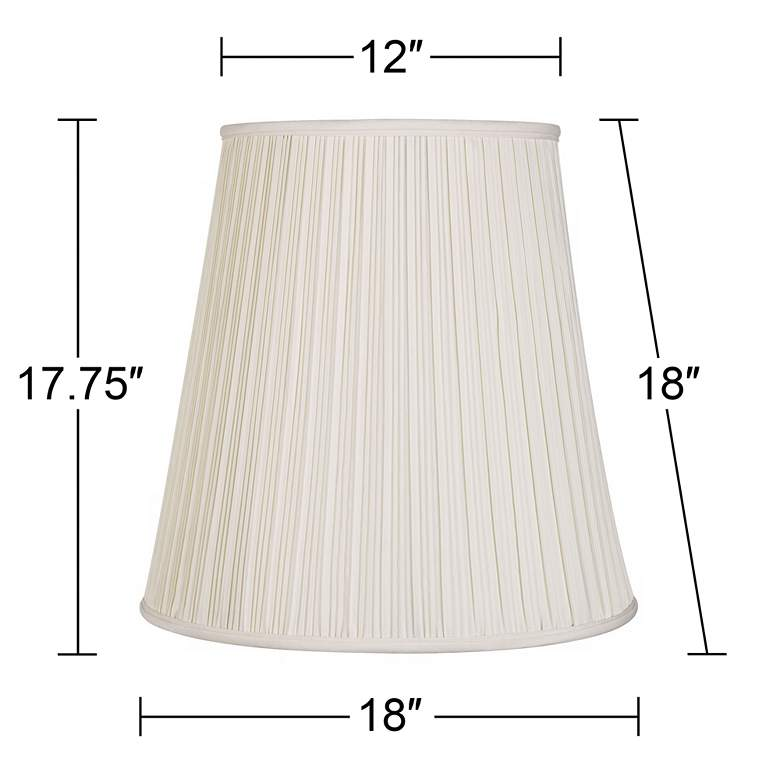 Creme Mushroom Pleat Lamp Shade 12x18x18 (Spider) more views