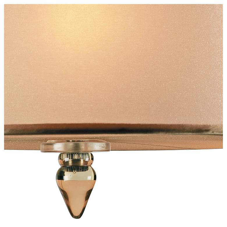 "Crystorama Luxo 14"" Wide Antique Brass Drum Ceiling Light more views"