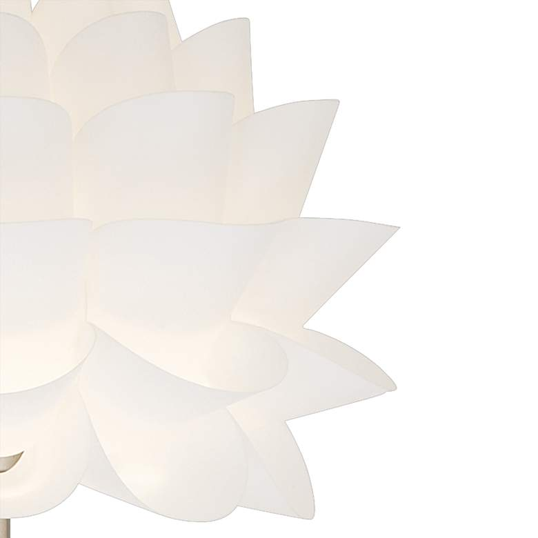 Possini Euro Design White Flower Floor Lamp more views