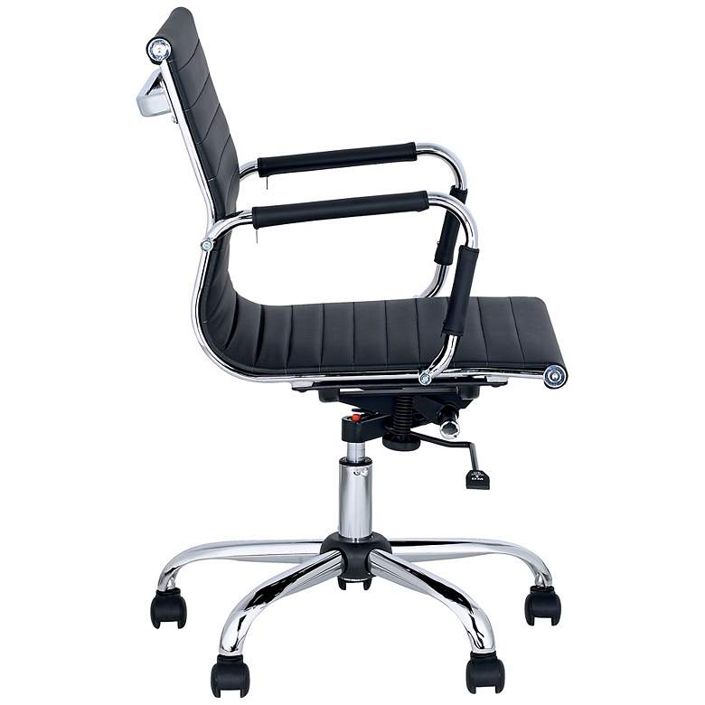Serge Black Low Back Swivel Office Chair more views