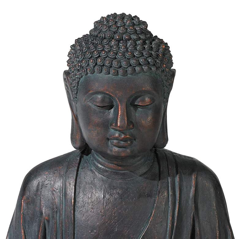 "Meditating Buddha 24"" High Bubbler Fountain with Light more views"