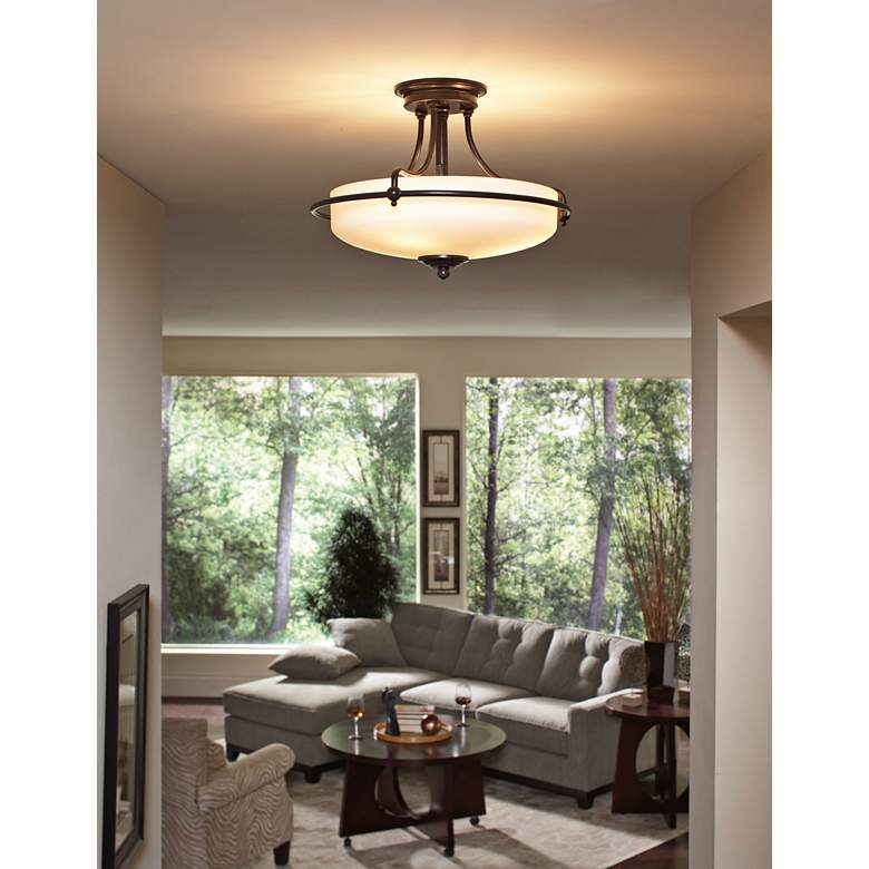 "Griffin Collection Palladian Bronze 17"" Wide Ceiling Light more views"