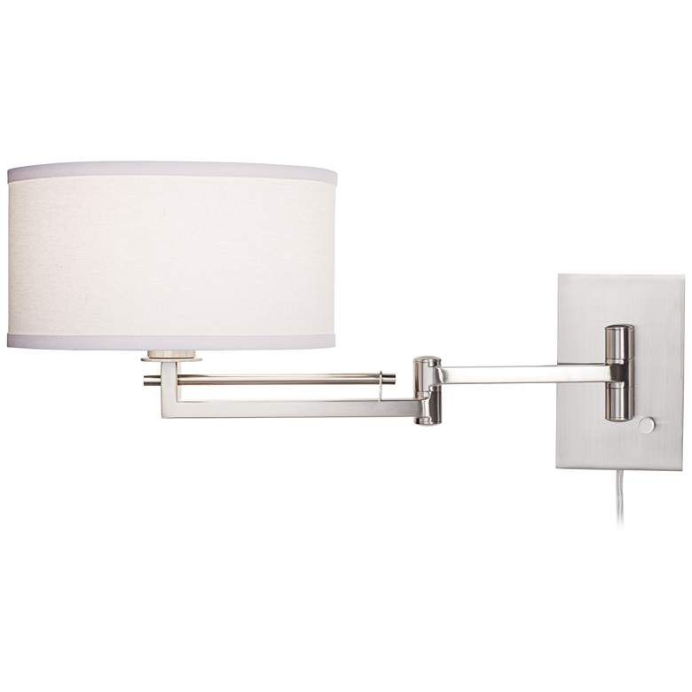 Possini Euro Aluno Plug-In Style Swing Arm Wall Lamp more views