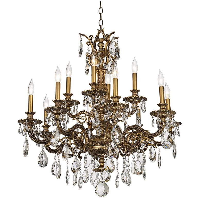 "Schonbek Milano 32 1/2"" Wide Large Crystal Chandelier more views"