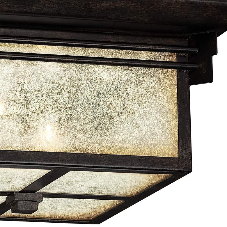 "Hickory Point 15"" Wide Bronze Outdoor Ceiling Light more views"