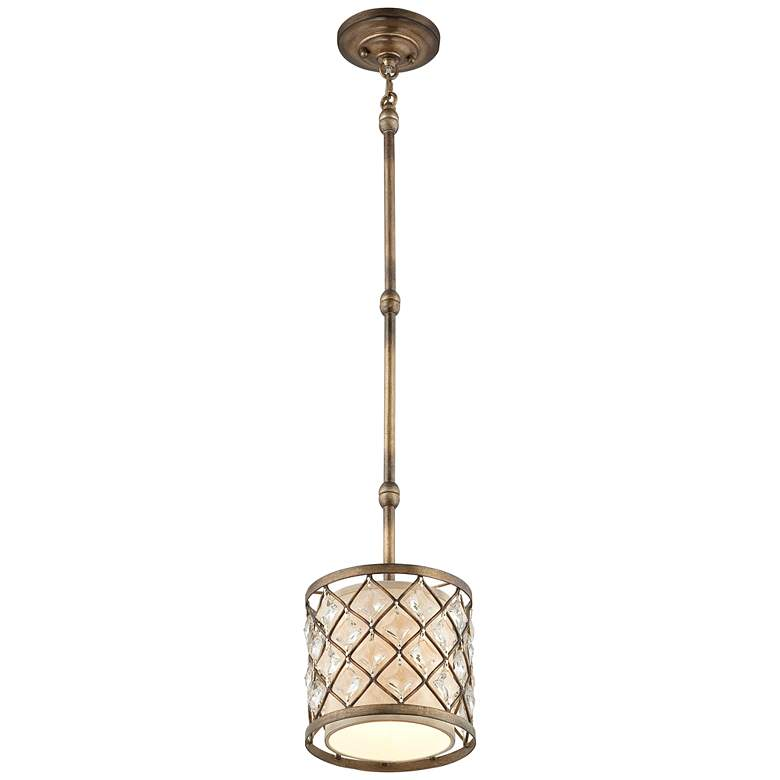"Jeweled Golden Bronze 9"" Wide Mini Pendant Light more views"