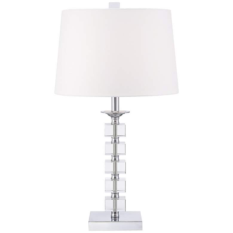 Stacked Cubes Crystal Table Lamp by Vienna Full Spectrum more views