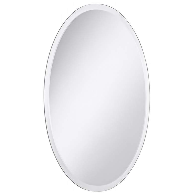 "Oval Regency 24"" x 48"" Beveled Frameless Wall Mirror more views"