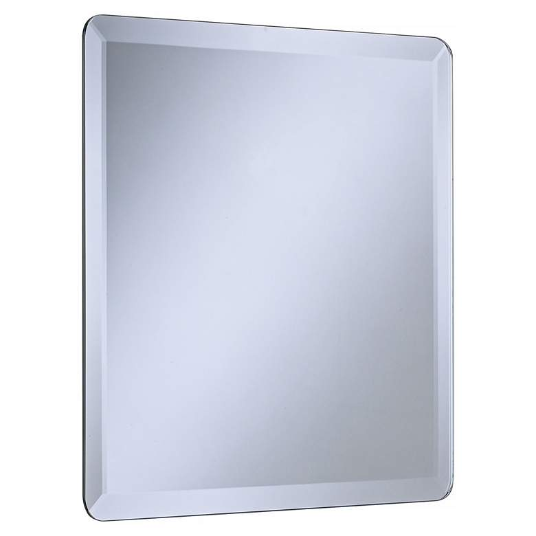 "Square Frameless 18"" Wide Beveled Wall Mirror more views"