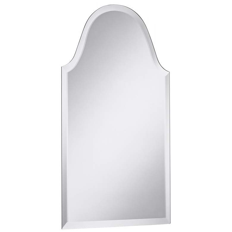 "Crown Arch Frameless 20"" x 40"" Beveled Wall Mirror more views"