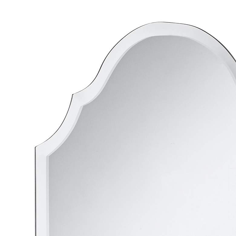"Adonia 24"" x 36"" Crown Frameless Beveled Wall Mirror more views"