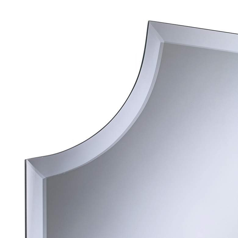 "Cut Corner Frameless 30"" High Beveled Wall Mirror more views"