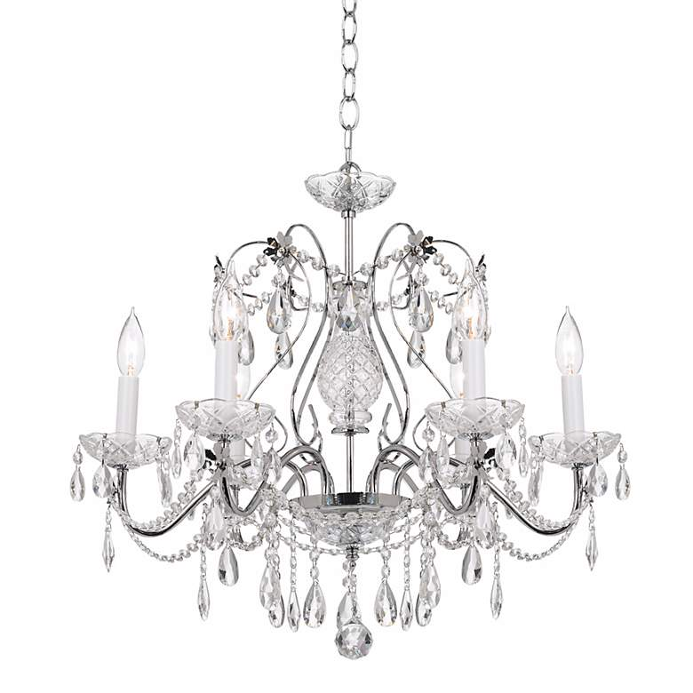 "Impact 24"" Wide Silver Regal Crystal Chandelier more views"