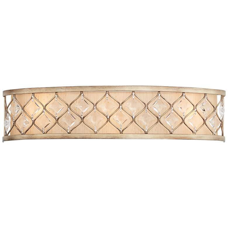 "Jeweled Golden Bronze 25"" Wide Bathroom Wall Light more views"