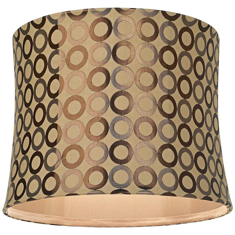 Copper Circles Drum Lamp Shade 13x14x11 (Spider) more views